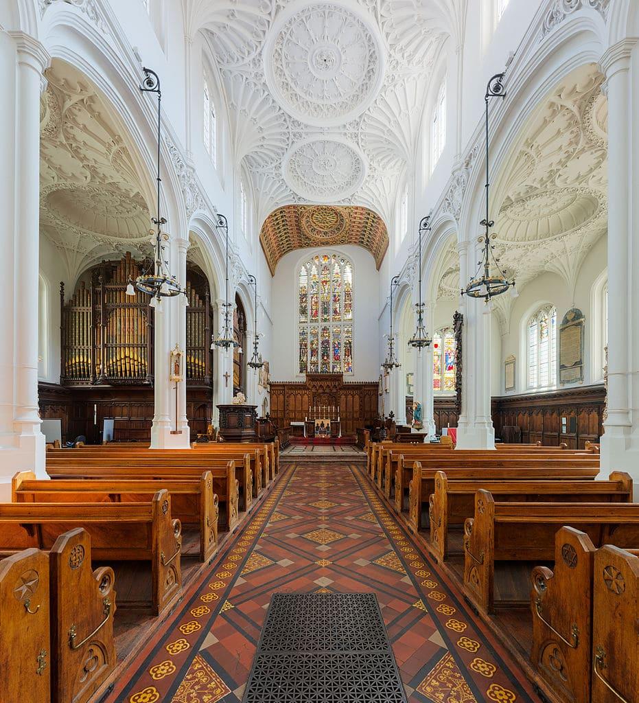 Dans l'église St Mary Aldermary dans le quartier de la City à Londres - Photo de DAVID ILIFF. License: CC BY-SA 3.0