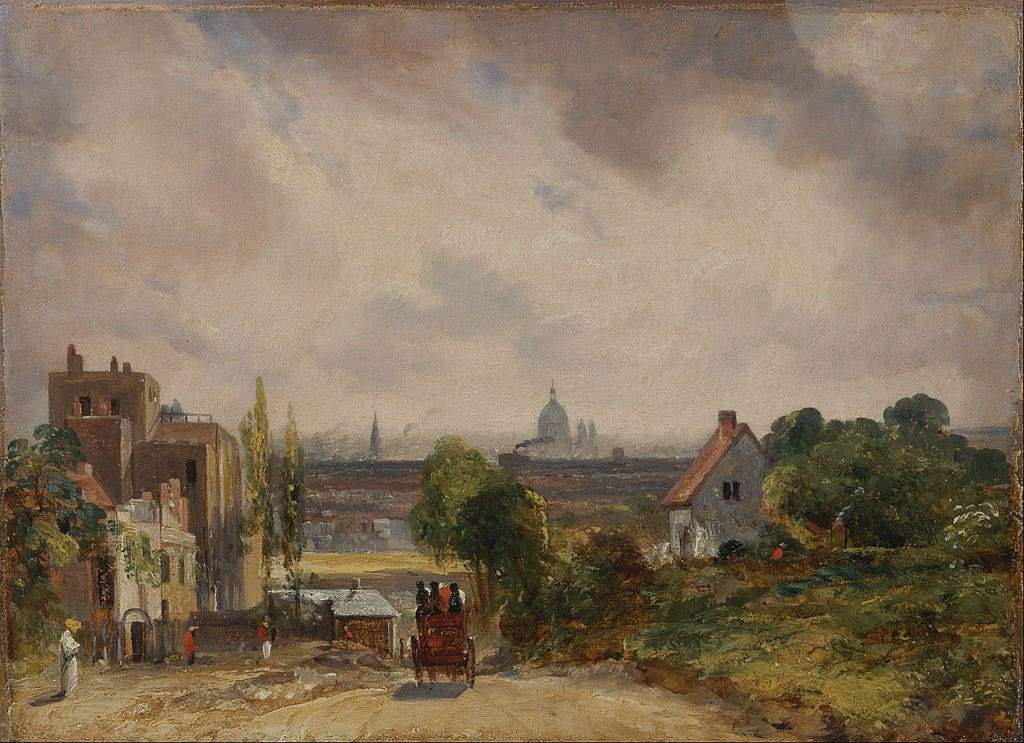 Hampstead avec la cathédrale de Saint Paul à Londres dans un tableau de John Constable