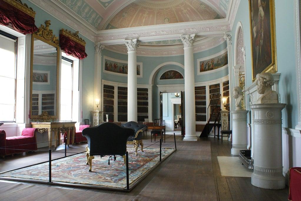 Bibliothèque de la Kenwood House à Hampstead Heath, Londres.