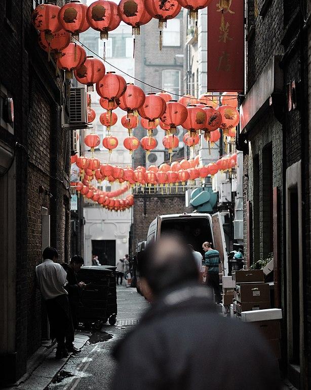 Dans une ruelle de Chinatown dans le quartier de Soho à Londres - Photo de Craig Whitehead