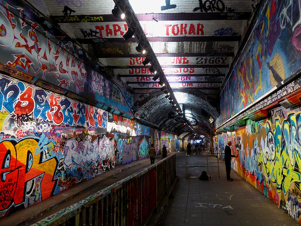 Street art : Graffiti tunnel sur Leake street dans le quartier de South Bank - Photo d'Ethan Doyle White