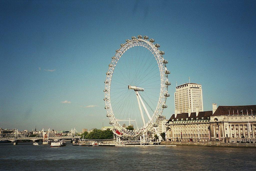 London Eye dans le quartier de South Bank à Londres - Photo de David Monniaux