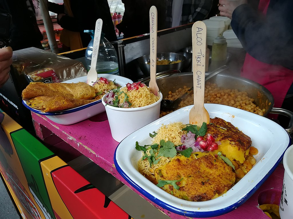 Street food dans le marché Borought market à Londres - Photo de MOs810
