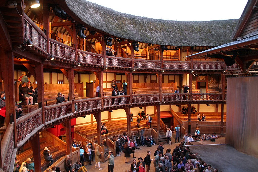 Dans le théâtre The Globe de Shakespeare dans le quartier de Southwark à Londres - Photo de Tony Hisgett