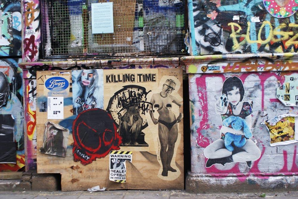 Street art dans le quartier d'Hackney Wick à Londres.