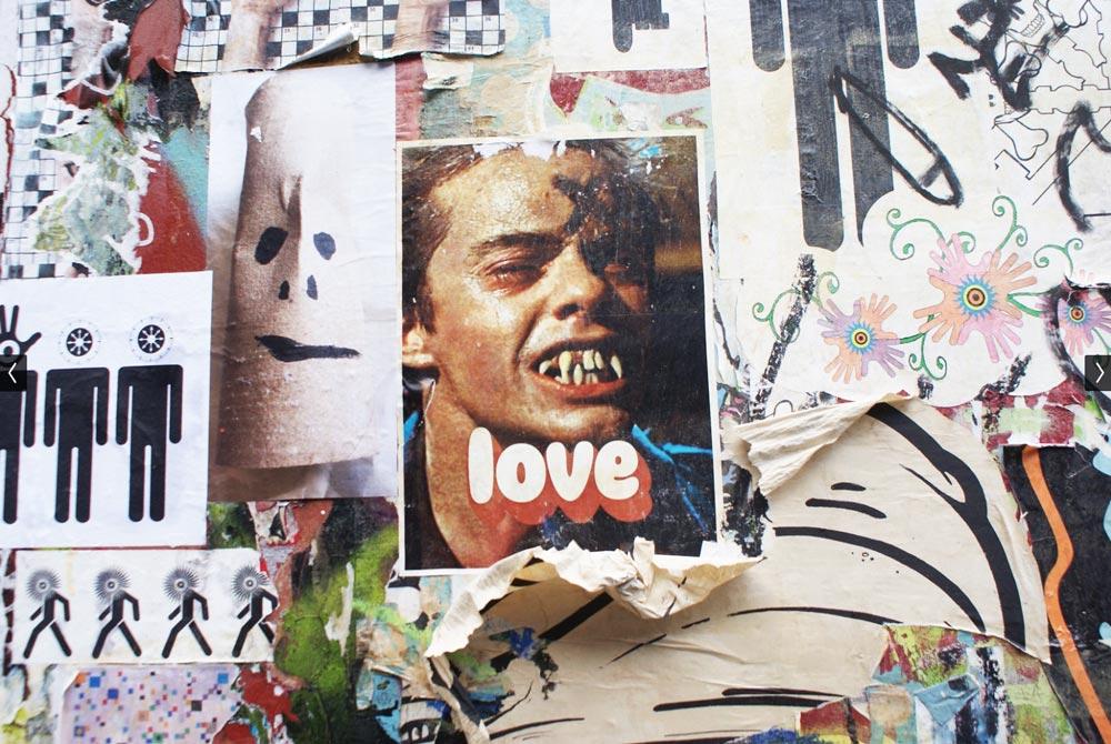 Street art dans le quartier de Shoreditch à Londres.
