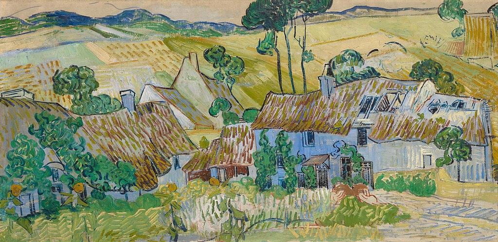 """""""Fermes près d'Auvers"""" par Vincent van Gogh dans la Tate Modern à Londres."""