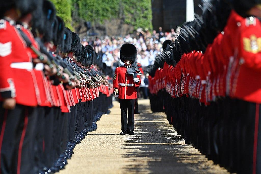 Défilé militaire dans le quartier de Westminster à Londres pour l'anniversaire de la reine - Photo de Rupert Frere