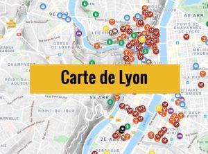 Carte de Lyon (France) : Plan détaillé gratuit et en français à télécharger