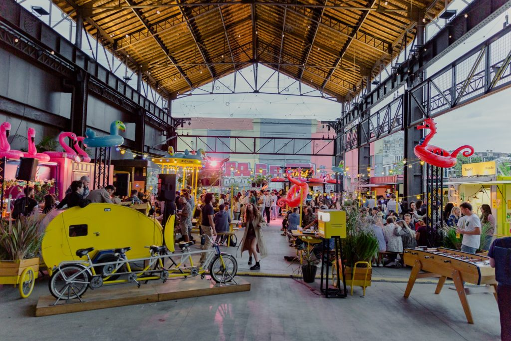Fête des 1 an de Heat Lyon dans le quartier de Confluence - Photo de Juliette Valero