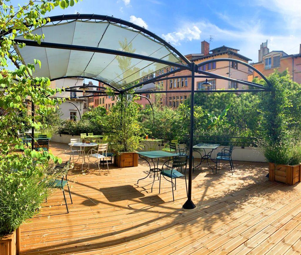 Rooftop du College Hotel à Lyon : Hotel de charme dans le centre historique.