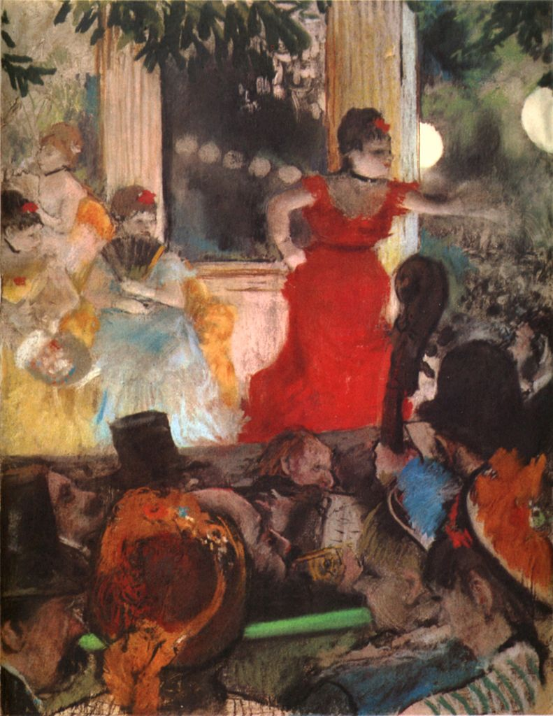 """""""Café concert aux Ambassadeurs"""" de Degas (1876) au Musée des Beaux Arts de Lyon."""