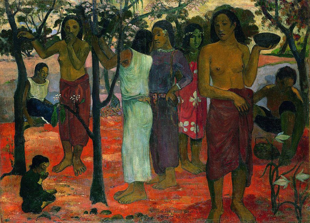 """""""Nave nave mahana"""" de Gauguin (1896) au Musée des Beaux Arts de Lyon."""