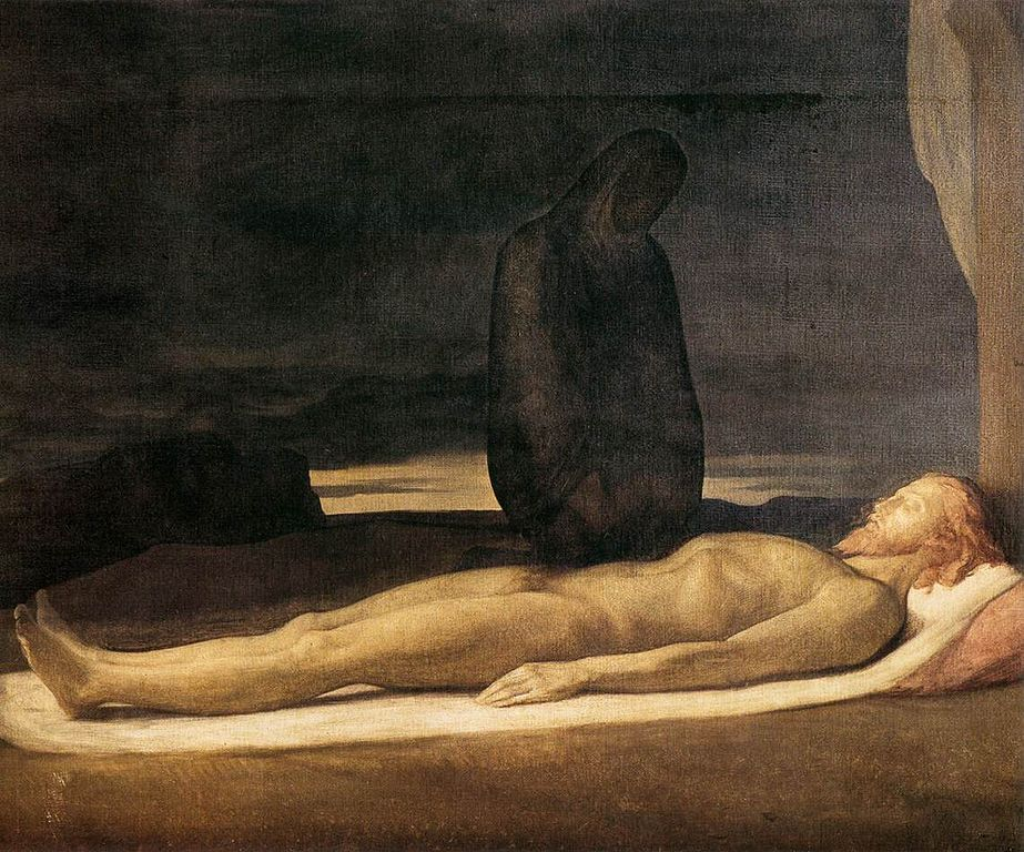 """""""Pièta"""", toile d'Hippolyte Flandrin (1842) au Musée des Beaux Arts de Lyon."""