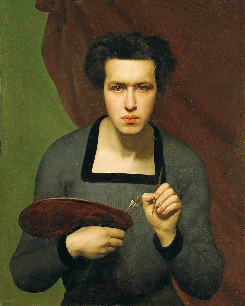 """""""Autoportrait"""" de Janmot (1832) au Musée des Beaux Arts de Lyon."""
