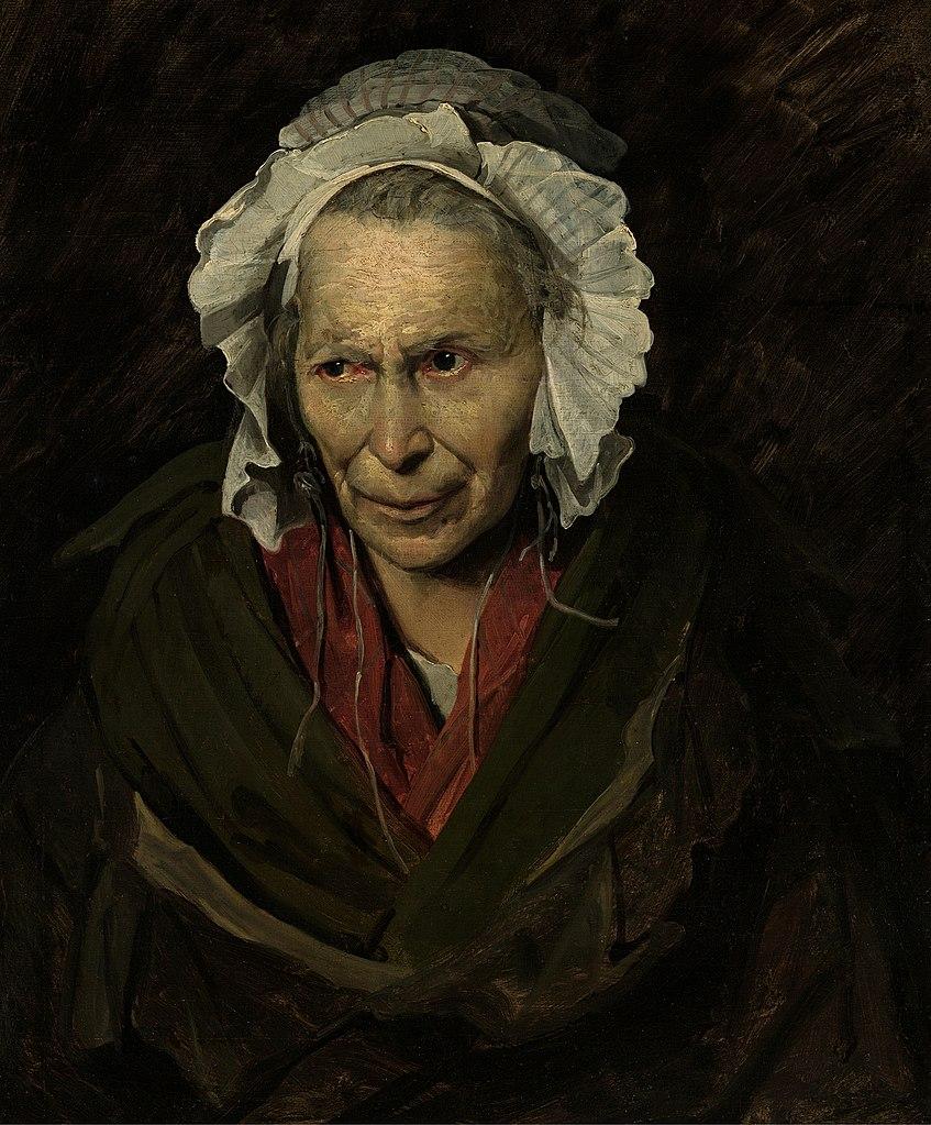 """""""La Monomane de l'envie"""" de Téodore Gericault (1820) au Musée des Beaux Arts de Lyon."""