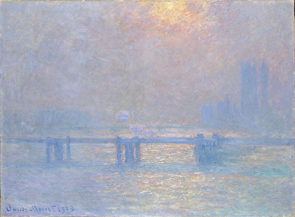 """Tableau """"La Tamise à Charring Cross"""" par Monet (1903) au Musée des Beaux Arts de Lyon."""