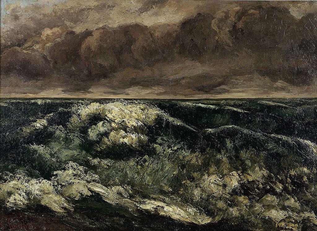 """""""La vague"""", oeuvre de Gustave Courbet (1869) au Musée des Beaux Arts de Lyon."""