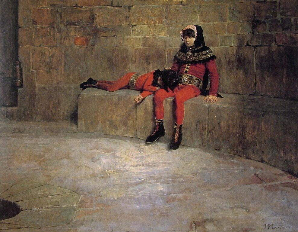 """Tableau """"Les otages"""" par Laurens (1896) au Musée des Beaux Arts de Lyon."""