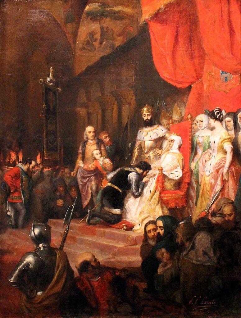 """""""Le couronnement d'Inès de Castro en 1361"""" par Pierre Charles Comte (1849) au Musée des Beaux Arts de Lyon."""