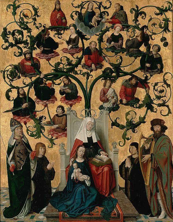 """""""Lignée de Sainte Anne"""" (vers 1500) au Musée des Beaux Arts de Lyon."""