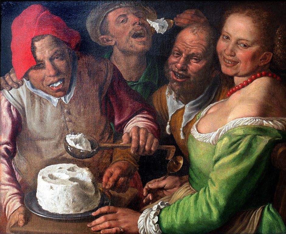 """""""Les mangeurs de ricotta"""" de Vincenzo Campi (1580) au Musée des Beaux Arts de Lyon."""