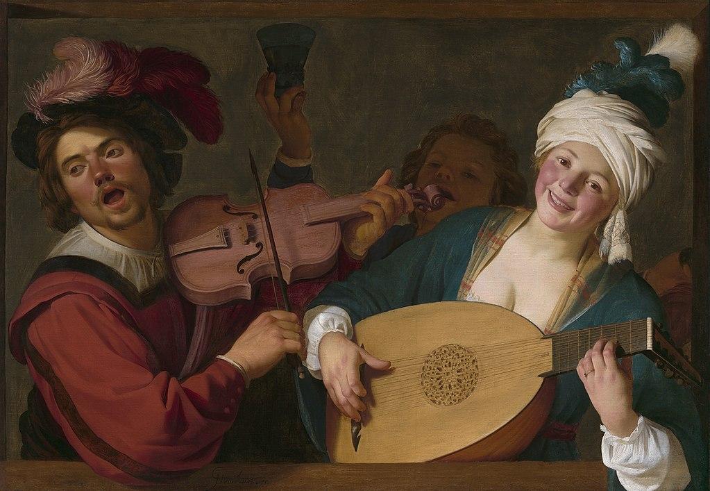 Concert de Gerrit van Honthorst (1623) au Musée des Beaux Arts de Lyon.