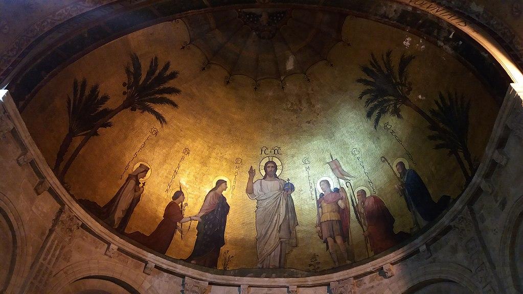 Une des mosaïques de la Basilique d'Ainay sur la Presqu'île à Lyon - Photo de Romainbehar