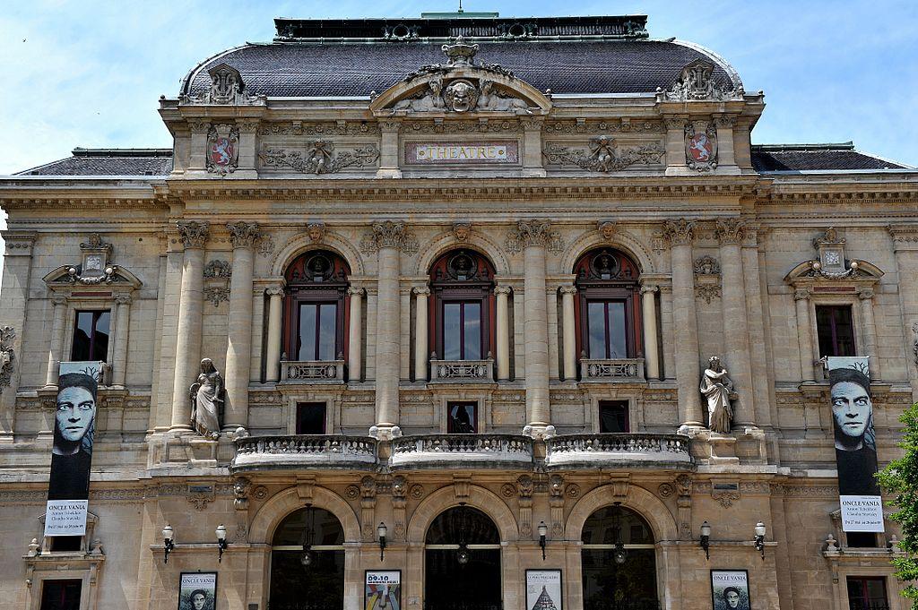 Façade du Théâtre des Celestins dans le quartier de la Presqu'île de Lyon. Photo de Phinou