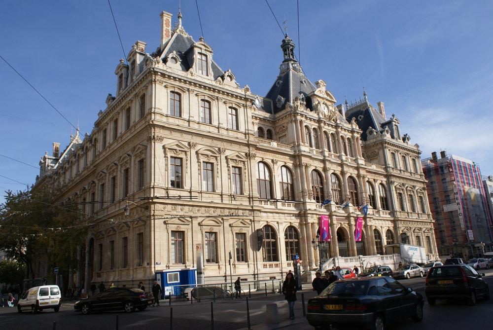 Palais de la Bourse à Lyon.