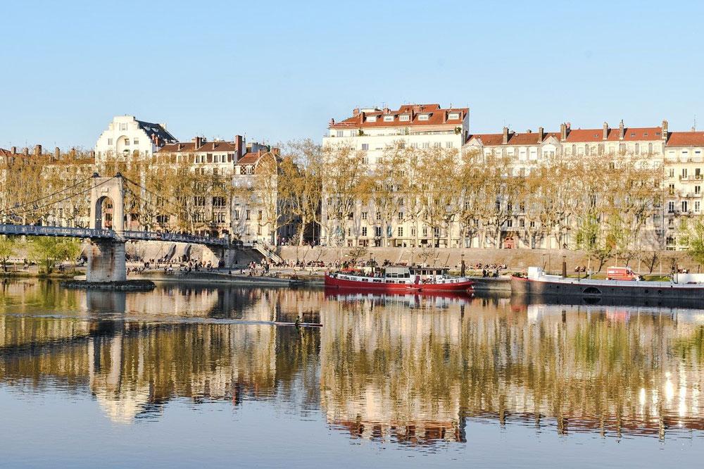Quai du Rhône à Lyon.