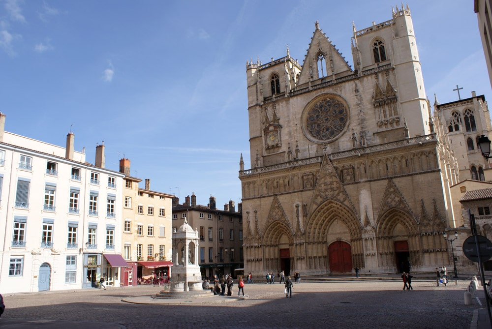 Cathédrale de Saint Jean dans le Vieux Lyon.