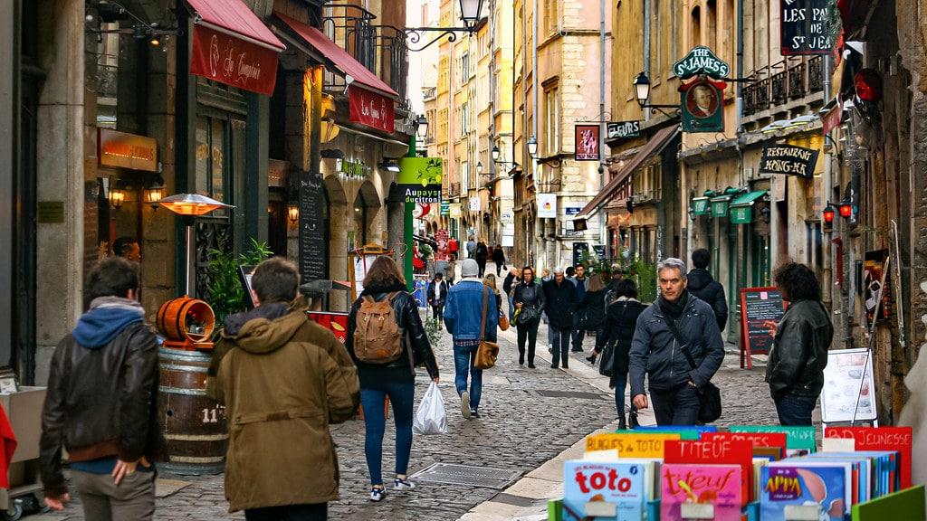 Dans la rue Saint Jean dans le centre historique de Lyon - Photo de Jorge Franganillo
