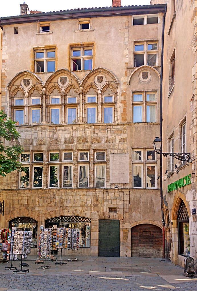 Maison Thomassin de la place du Change dans le quartier Saint Jean à Lyon - Photo de Dennis Jarvis