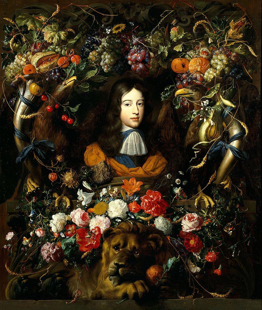Portrait de Guillaume III d'Orange par Heem Jan Davidsz au Musée des Beaux Arts de Lyon.