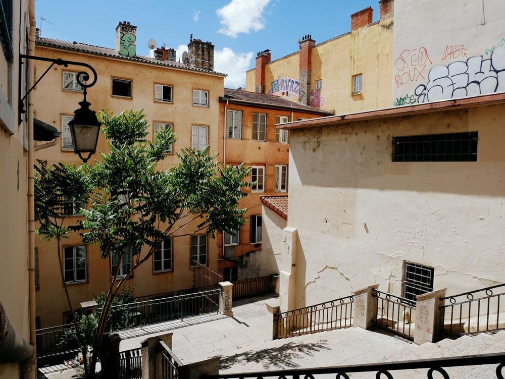 Pentes de la Croix Rousse à Lyon - Photo de Louis Derrac