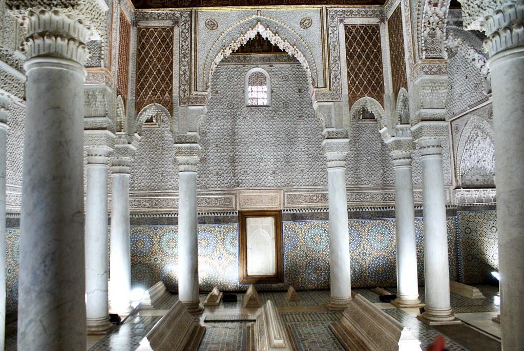 Tombeaux Saadiens dans la Casbah (sud de la Médina) à Marrakech.