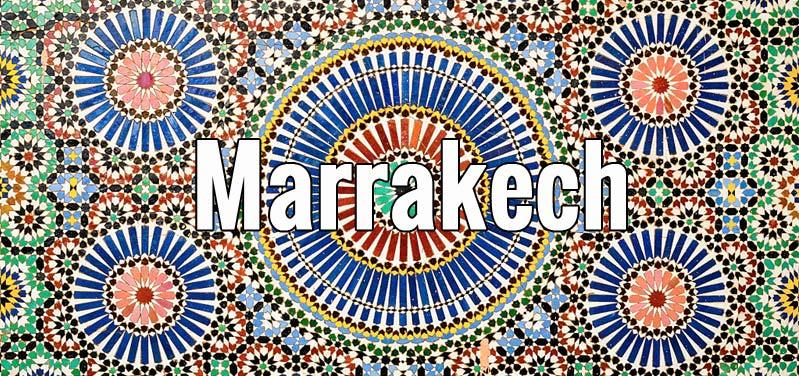 Guide de Marrakech au Maroc, d'après une photo de J.Ligero & I.Barrios