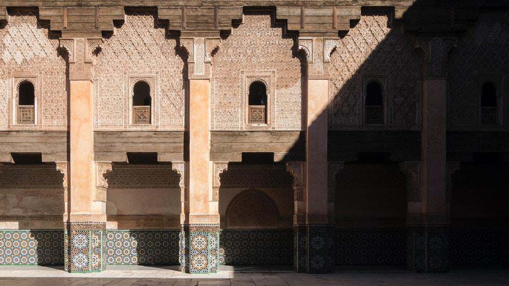 Cour de la Medersa Ben Youssef dans la Médina de Marrakech -Photo de Adri Ramdeane