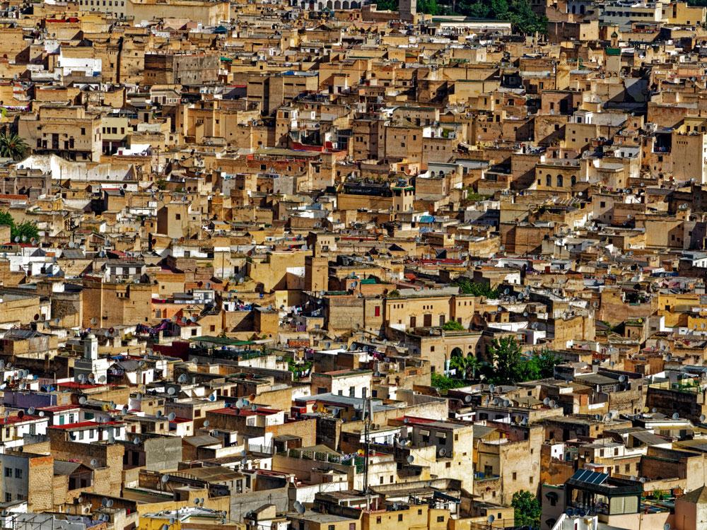 Vue aérienne de la Médina de Marrakech - Photo de D I