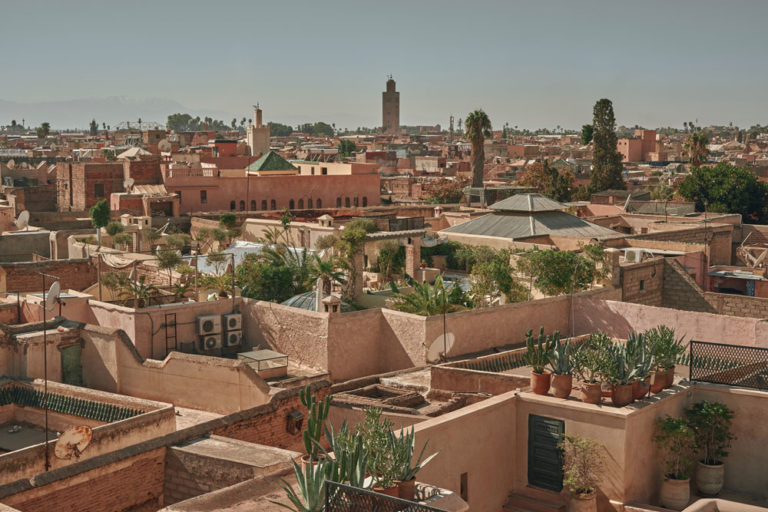 Vue sur les toits de la Médina de Marrakech - Photo de Max Libertine