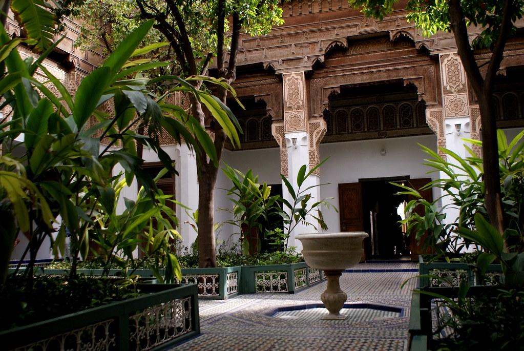 L'un des deux jardins accessibles au public au palais de Bahia de Marrakech.