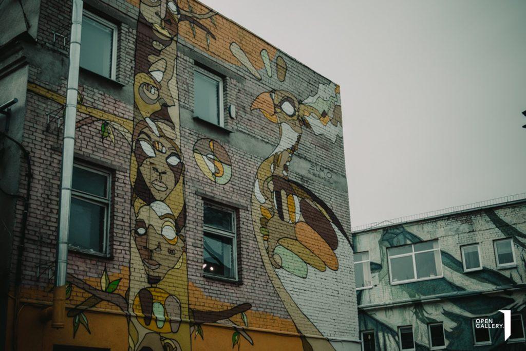 Street art à l'Opengallery / Menufabrikas à Vilnius.