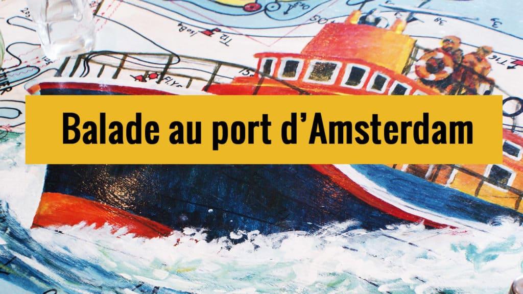 Balade à vélo dans le port d'Amsterdam sur Youtube