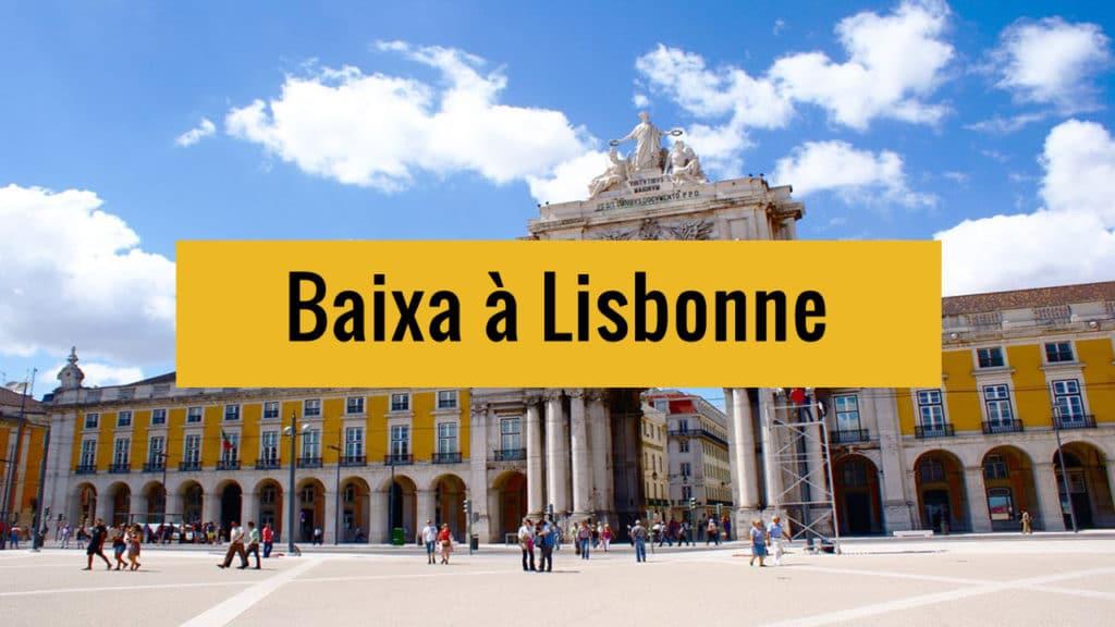 Quartier de Baixa à Lisbonne sur Youtube