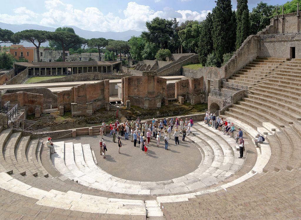 Théâtre de Pompéi près de Naples - Photo de Berthold Werner