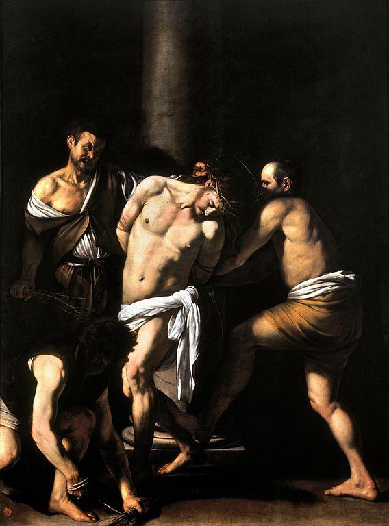 """""""La Flagellation du Christ"""" par Caravage au Musée Capodimonte à Naples."""