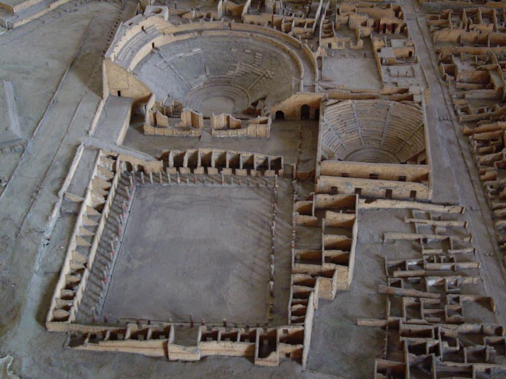 Modele réduit de Pompéi près de Naples - Photo de virtusincertus