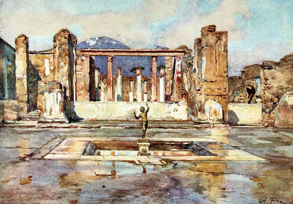 L'ancienne cité romaine de Pompéi vue par Frank Fox (1918)