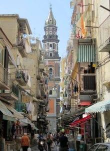 Quartier du Mercato à Naples, entre la gare et le port